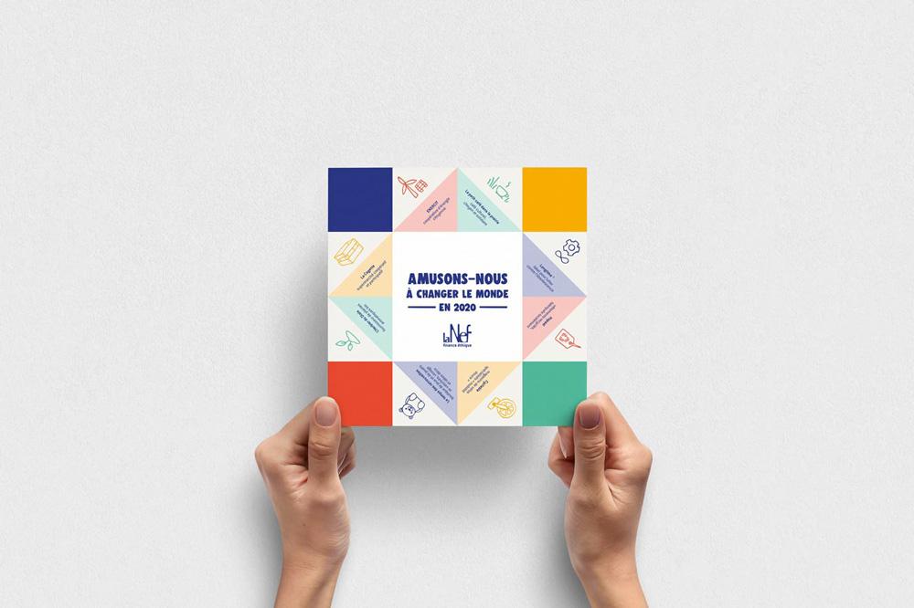 portfolio graphiste freelance : création carte de voeux