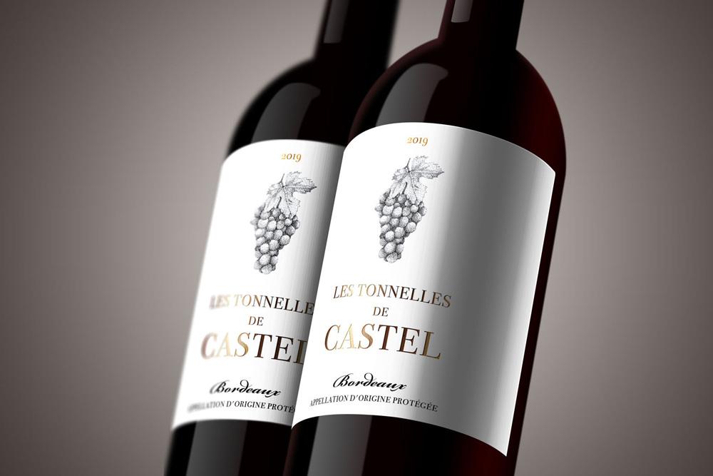 portfolio graphiste freelance : illustration étiquette vin